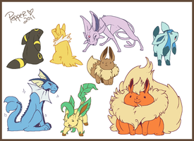 Eeveelutions by MrsDrPepper