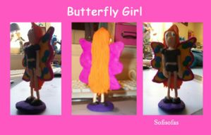 Butterfly.Girl - Clay by Sofisofas