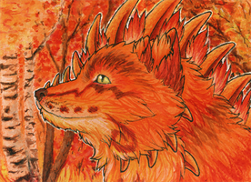 ACEO/ATC: Fiery Autumn by Samantha-dragon