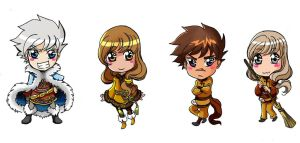 Autumn Rose Chibis by Momoyuan