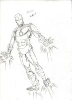 The Invincible Iron Man Sketch by TEhopefulcomicartist