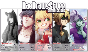 Commission Pricing by RaeDrawsStuff