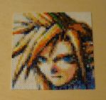 Cloud Strife Portrait Bead Sprite by monochrome-GS