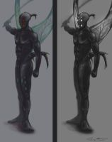 insectish human concept by Zyryphocastria
