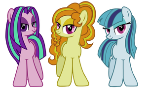 MLP: The Dazzlings by leKelBel