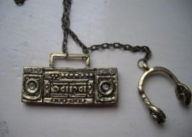 Boombox Necklace. by x-GlassHearts-x