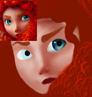 Merida Wip 1 by selftaughtartist1