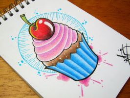 Cupcake Flash Design by Frosttattoo