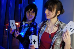 two cosplay Beyond souls