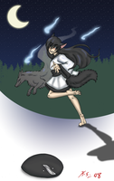 Danny Phantom yokai, kitsune 2 by The-Clockwork-Crow