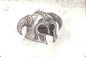Steel Horned Helmet by LusitanianDavid
