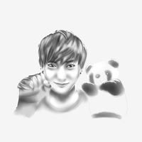 [EXO] Tao and His Panda~ by oOBubbleBirdOo