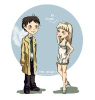 Cas and Chastity by 6worldangel9