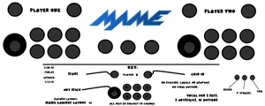 MAME Arcade Layout V2 (Saturn Style) by VioletLinked