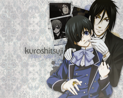 Ciel and Sebastian Wallpaper by YRPT