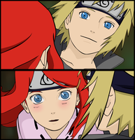 Kushina and Minato by NinjaMia