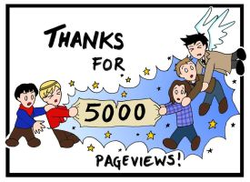 5000pv - THANK YOU by blackbirdrose