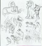 animals sketch by light-peace