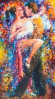 Vibrant Dance by Leonid Afremov by Leonidafremov
