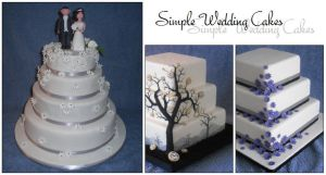 Simple Wedding Cakes by Little-M-Cakes