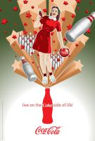 Coca-Cola Bowling Girl by Coca-Cola-ArtGallery