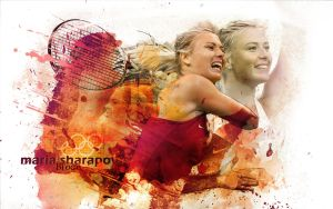 sharapova watercolor effect by ahmetbroge