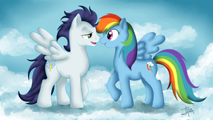 Soarin and Rainbow Dash by BakaMeganekko