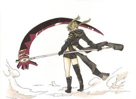 Maka's Death Scythe: Colour by xXGuntaXx