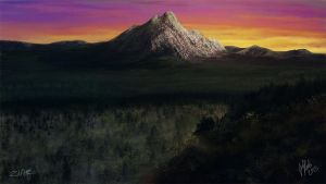 SP Lonely sunset mountain by Z1aR0