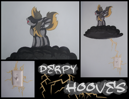 Derpy Hooves Wall Mural by Alouncara