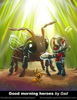 Antman Good morning heroes by Gad by Dreamgate-Gad