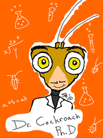 Dr. Cockroach Tegaki by melissaduck