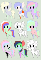 Pony Adopts! 5 points each! 2 for 1 deal! by LegolasCookie