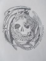 Skull and Dragon by DJ-Kitt-Morgue-13