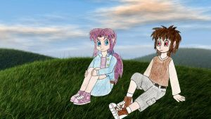 Human LBT Littlefoot and Ali hanging out by Animedalek1