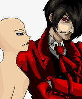 Listening intently- Alucard x you base by AngelKiller666
