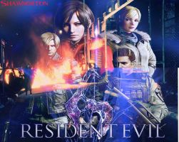 My Resident Evil 6 Wallpaper 2 That I Made by shawnorton619