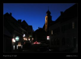 Riegersburg at Night by rotane