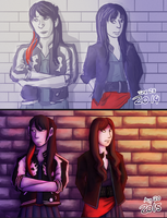 Black and Showa 2014 vs 2015 by yankiidoodles