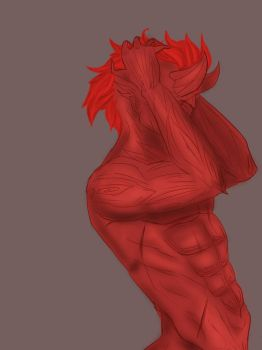 Chiseled abs on demonic trees by Rtist-Time