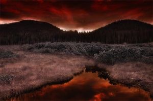 A Blaze in the Marshes by Ondskapens