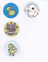 Animal Button Designs 2012 by CynicalSniper