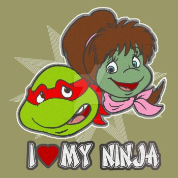 TMNT T shirt design contest submission Raph Mona by theblindalley