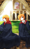 Weasley Twins by Chuuco
