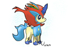 resolute keldeo chibi by Garden-Galettes