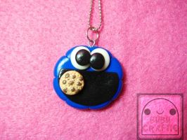 Cookie Monster Necklace 2 by efeeha