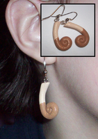 Pokemon-Inspired Meowth Tail Earrings by UniqueTreats
