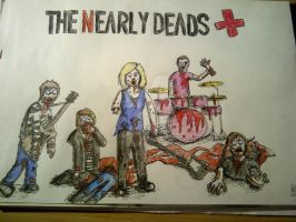 Drawing of the Nearly Deads one of my fav bands :D by loudsilence21