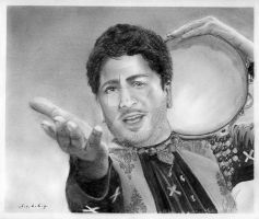 Gurdas Maan Pencil Portrait by Bobby-Sandhu