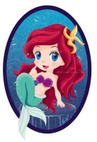 Ariel  the litle mermeid by effinit